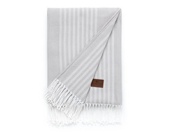 Striped Cotton Throw Gray