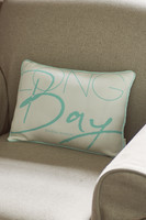 Long Bay Pillow Cover blue 40x30