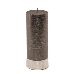 Pillar Candle Black 7x18