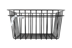 Metal wire basket Black M
