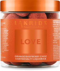 SMALL LOVE ORANGE RASPBERRY CHOC COATED SALTY LIQUORICE