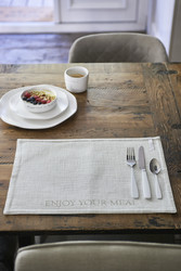 Enjoy Your Meal Placemat flax