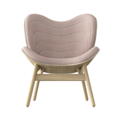 Conversation Piece Armchair Oak - Dusty Rose