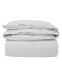 White-Light Gray Tencel Striped Duvet
