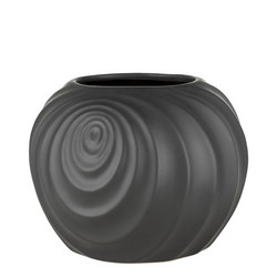 Swirl flower pot black Ø20.5x17.5 cm