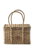 Rustic Rattan Carry On Basket