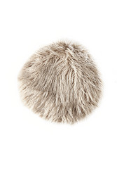 RM Siberian Faux Fur Pillow Nude