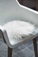 RM Siberian Faux Fur Pillow White