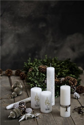 Nordic Advent candles White 12.5cm