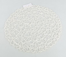 Place mat White-silver