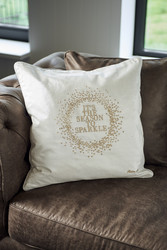 RM It's The Season Pillow cover gold 50x50