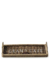 Rustic Rattan Morning Tray 45x15