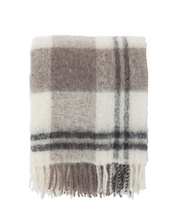 Holiday Mohair Throw White-grey