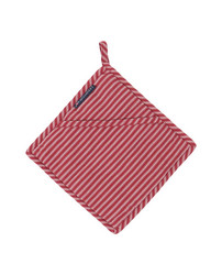 Striped Potholder White-Red