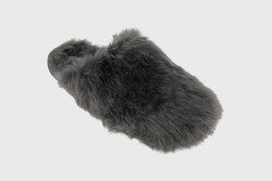 Furry Mule Slipper Anthracite