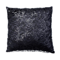 Kylie Minogue Web Sequin koristetyyny 45x45 Black