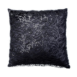 Kylie Minogue Web Sequin cushion 45x45 Black