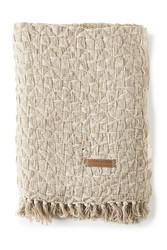 Messina Throw flax 170x130