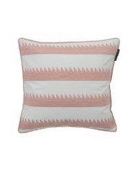 Embroidery Striped Sham, Pink/White