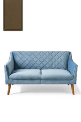 Contessa Sofa 2 Seater Velvet Cafe Latte
