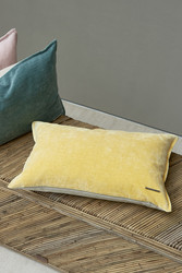 Classic Vintage Velvet Pillow cover yellow 55x35