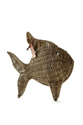Rustic Rattan Tropical Fish Large