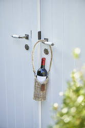Rustic Rattan Bottle Holder