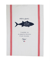 Printed Kitchen Towel White-Red