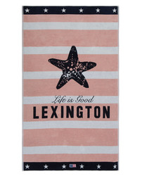 Graphic Velour Beach Towel 100x180 Pink-white