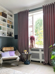 Spring Velvet Curtain 130cm Pebble
