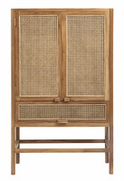 Cabinet Teak with open mesh weaving