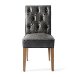 Hampton Classic Dining chair Pellini leather Espresso