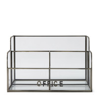 French Glass Office Organizer