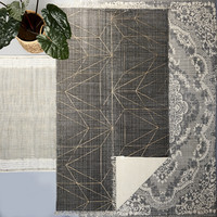 Graphic Print Carpet grey 240x140