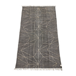 Graphic Print Carpet grey 240x140