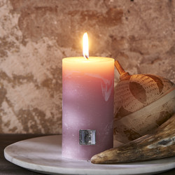 Rustic Candle faded pink 7 x 13