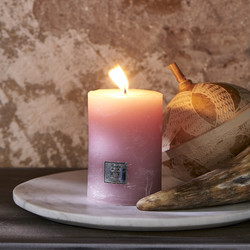 Rustic Candle faded pink 7 x 10