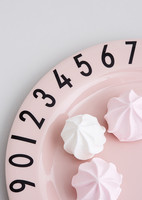 Melamine Number Gift Set Pink