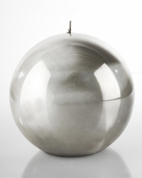 Metallic Ball Candle 10cm Titanium