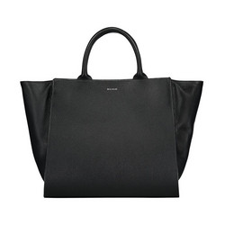 Elinor tote bag, natural grain leather, black/s