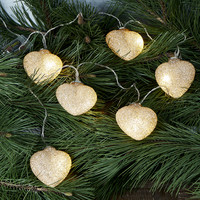 Sparkling Hearts Light String gold