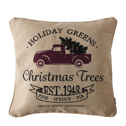 Holiday Gr Christmas Tr Pillow Cover 50x50