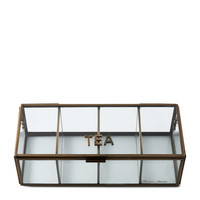 French Glass Tea Box