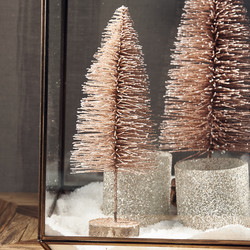 Sparkling Snow Tree dusty pink S