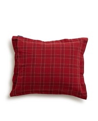 Holiday Checked Flannel Pillowcase, Red