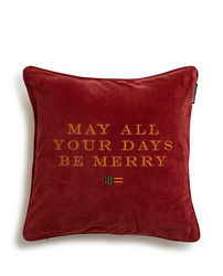 Holiday Merry Days Velvet Sham, Red