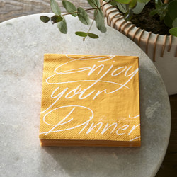 Paper Napkin Enjoy Your Day yellow