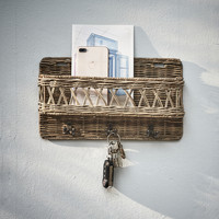 Rustic Rattan Hold My Keys Holder