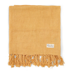 Luxury Linen Throw yellow 180x130