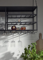 LOFT rack/shelf, black metal